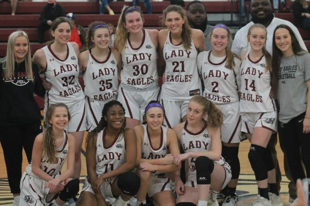 The OCA Lady Eagles, Area IV District 3 Champions